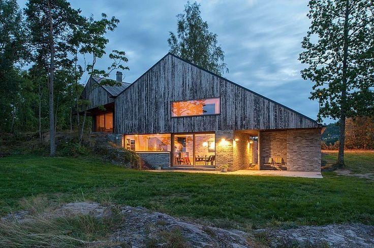Seaside Retreat in Norway Displaying a Charming Wooden Exterior