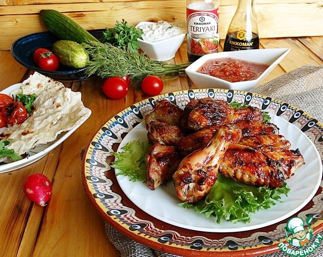 """Куриные крылышки с соусом """"Терияки"""" ингредиенты"""