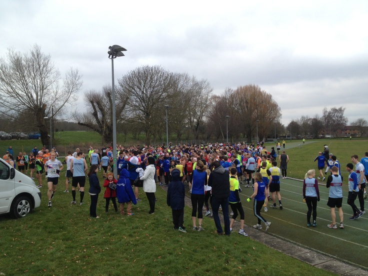 Milling at the start of Salisbury 10 mile. Why not try Abbeyfield 10km