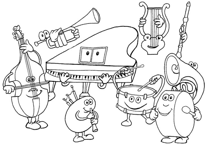 music coloring page