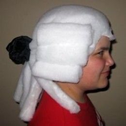 How to make a powdered wig for Halloween . . . OR for George Washington, Jefferson or for one of Paul Revere and his Raiders!!  lol