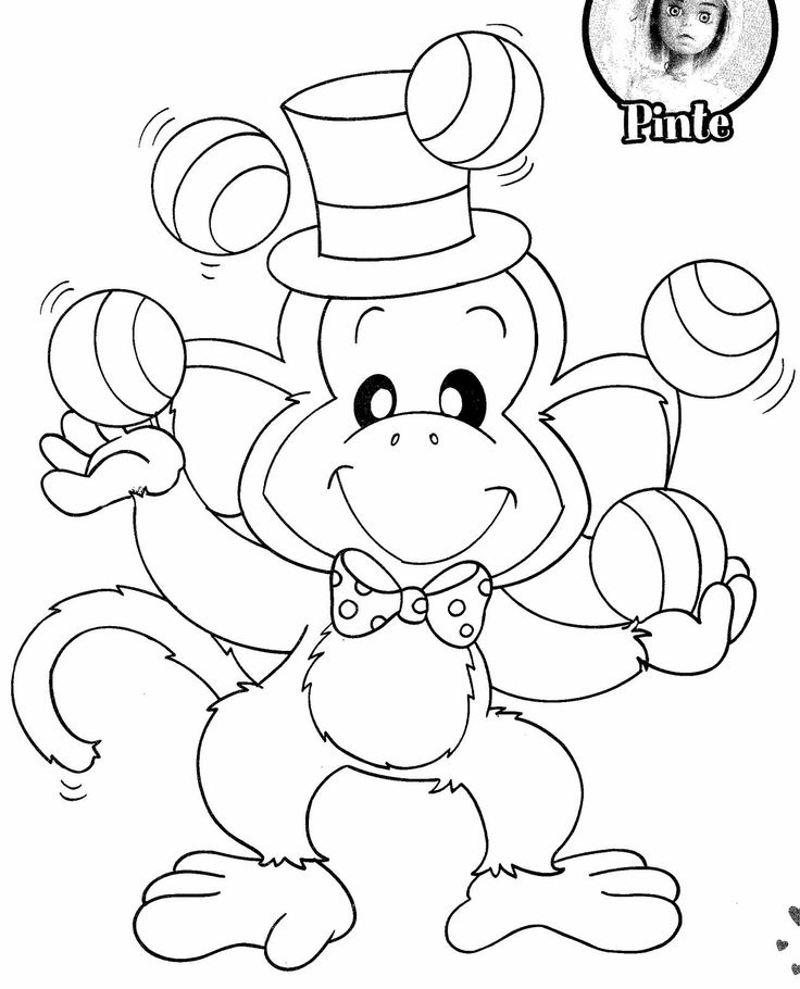 circus train coloring pages | Monkey At Circus Page Coloring Pages