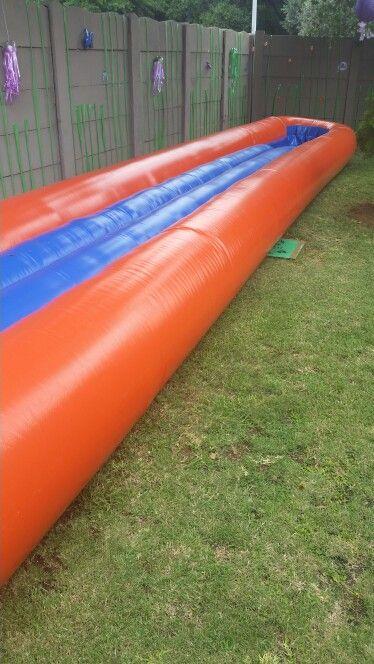 The slippy-slide went up....yay!