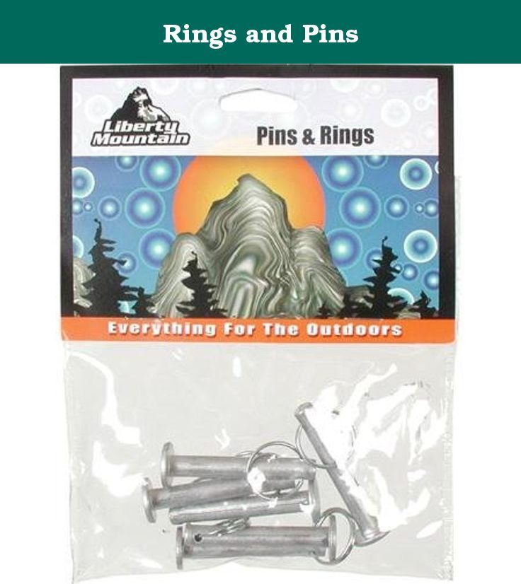 Rings and Pins. These Rings and Pins are replacement equipment for external frame backpacks. They are designed to be used to attach shoulder straps and waist belts to the frame. Will fit most models of external frame backpacks.