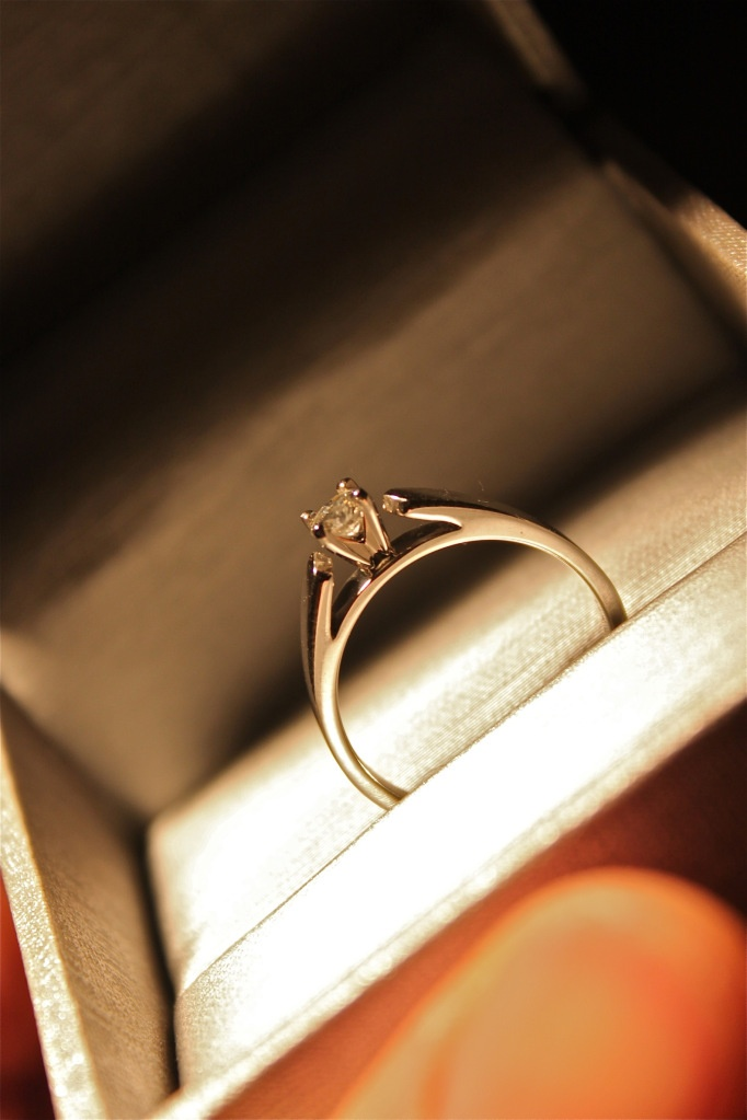 simple but elegant engagement ring wedding of my
