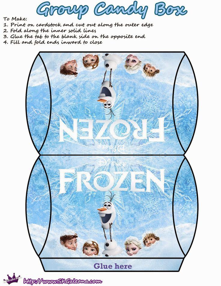 Frozen: Pretty Free Printable Pillow Boxes.