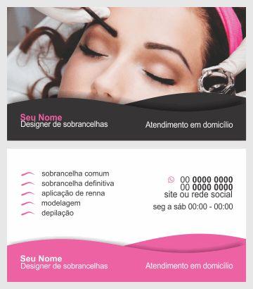 Cartão de visita designer de sobrancelhas