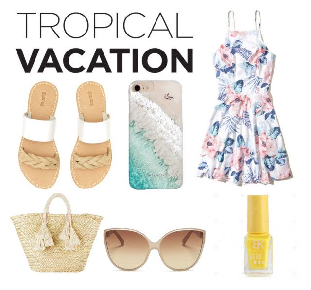 """Feelin' Beachy"" by heyitsveve on Polyvore featuring Hollister Co., Soludos, Giselle, Gray Malin and Linda Farrow"