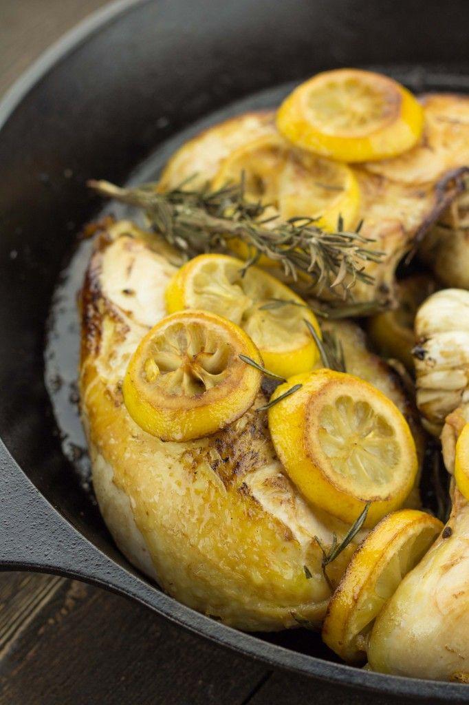 Lemon and Garlic Roasted Chicken by table.io #Chicken #Lemon #Garlic #Healthy #Easy