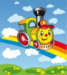 cheerful train