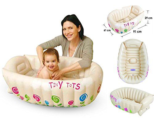 From 10.68 Tiny Tots Inflatable Baby Bath Tub Portable Travel Bathtub Sensor Phthalate Free