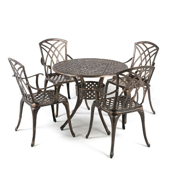 Buy Greenfingers Stamford Cast Aluminium 4 Armchair 85cm Round Outdoor Set  at Guaranteed Cheapest Prices with. 25  Best Ideas about Cast Aluminium Garden Furniture on Pinterest