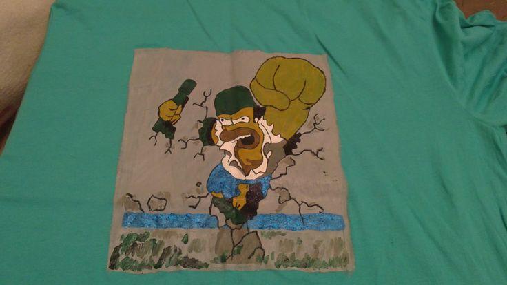 camiseta pintada dibujo de un grafiti
