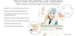 #FREE Custom #Photo Calendar From Shutterfly + 40% Off Everything Else. Get the #Coupon Code  *Good holiday #gift! | MomsWhoSave.com  #deals