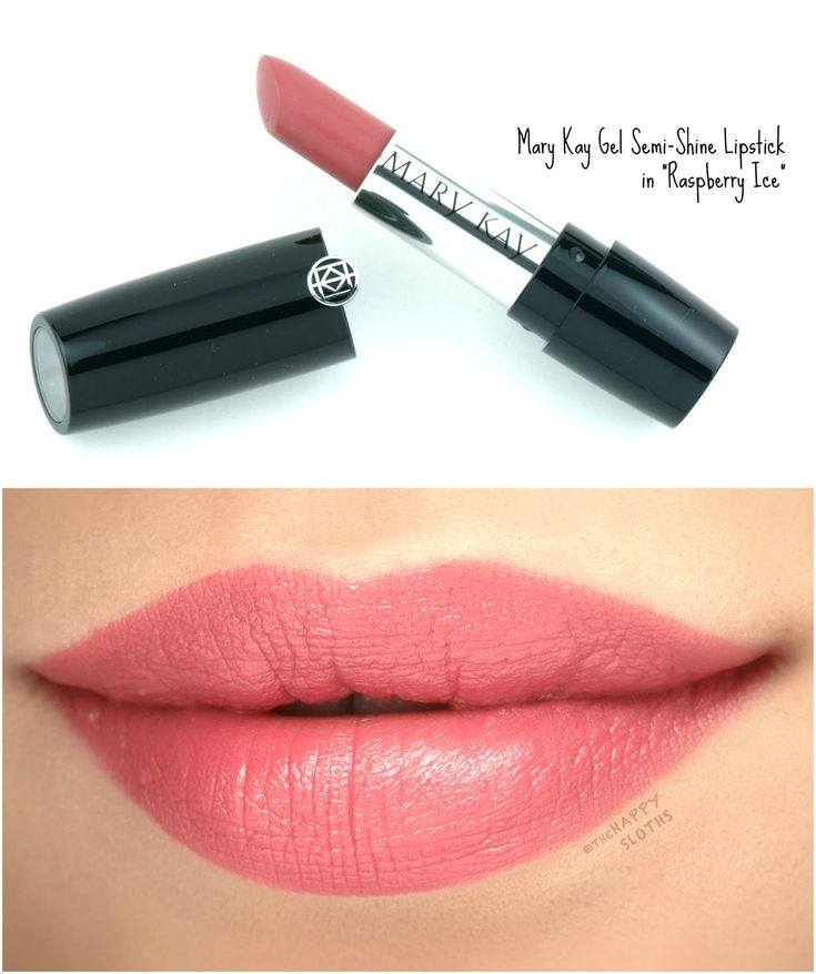 """Mary Kay Gel Semi-Shine Lipstick in """"Raspberry Ice"""": Review and Swatches"""