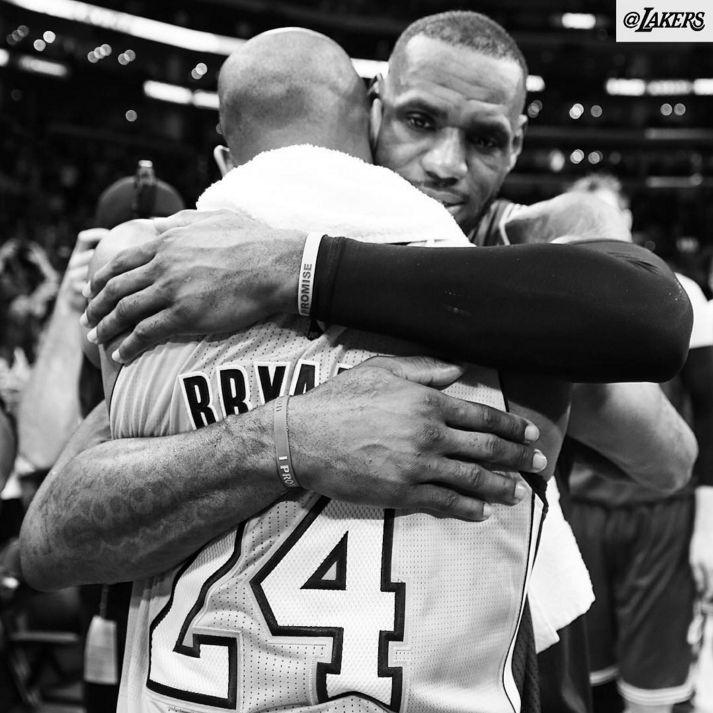 Kobe Bryant Battles LeBron James For Last Time