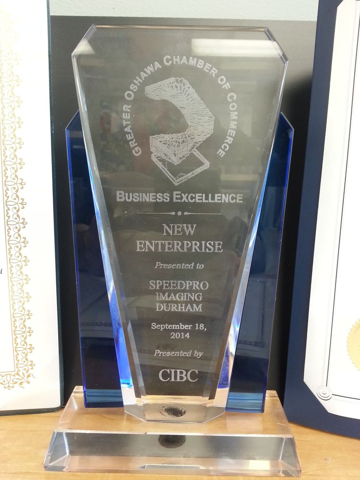 "Speedpro Imaging Durham/Oshawa receives the Chamber of Commerce Business Excellence Award""! Want to learn more? Check out the blog at http://www.speedprocanada.com/news/entry/speedpro_imaging_durham%5Coshawa_wins_award%21%21-74/  !"