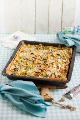 Lauchkuchen mit Speck & Käse I Leek, Bacon & Cheese Quiche