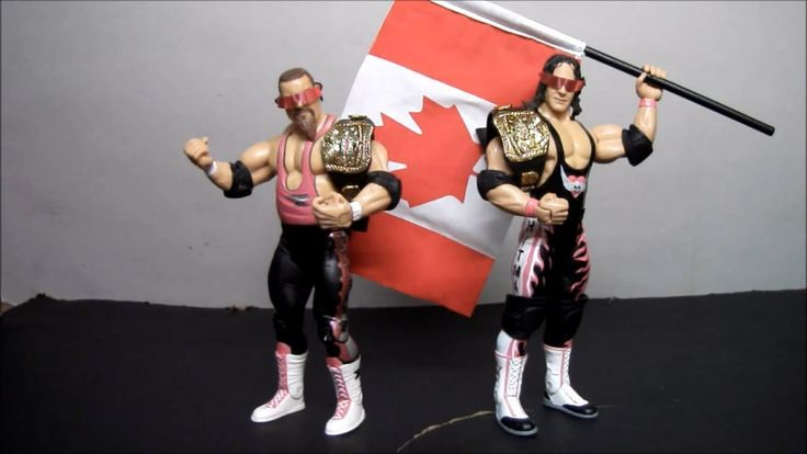 Jakks Pacific WWE Classic Superstars: Bret Hart & Jim Neidhart (Hart Fou...