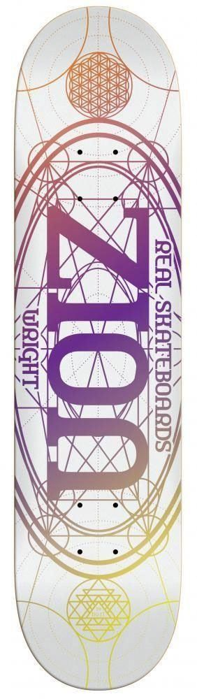 "Real Zion Wright Oval Pro Skateboard Deck - 8.38"" White"