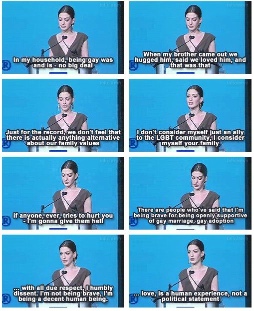 I'm pretty sure, she's one of my favorite actresses. This just gave her even more points.