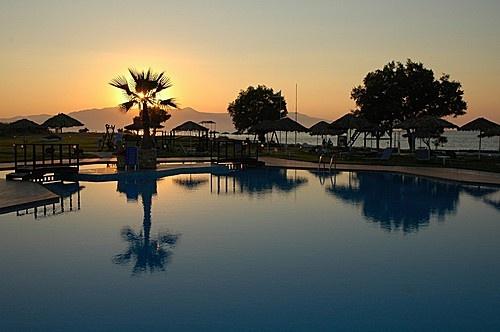 Crete, Platanias - Sunset (near hotel Geraniotis)