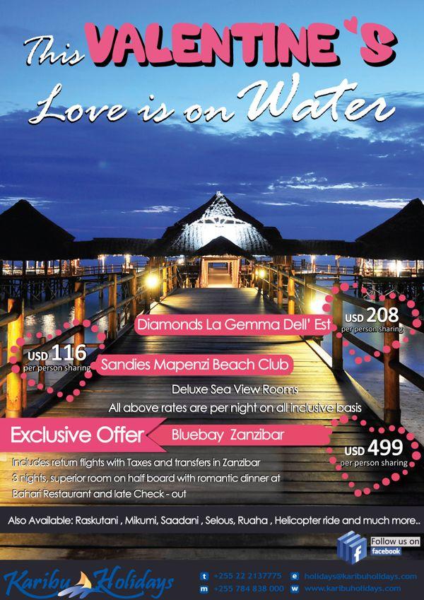 Valentine Offer on Zanzibar Beach Resorts. Advert used as ...