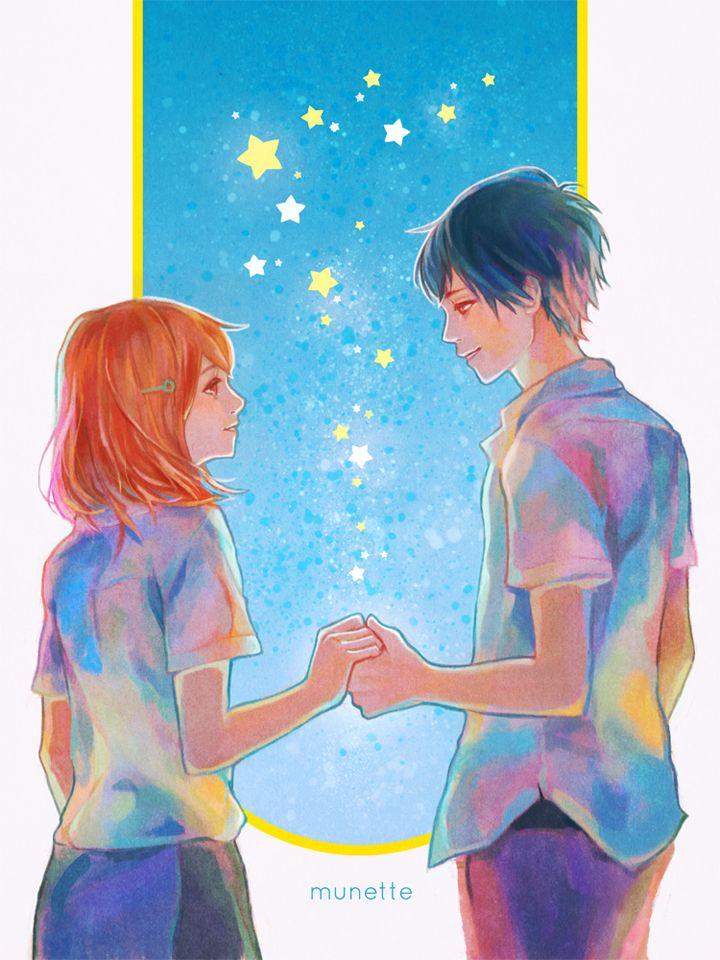 Naho and Kakeru by munette.deviantart.com on @DeviantArt