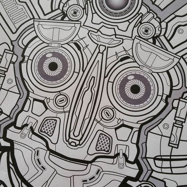 19 Best Mech Mandala Coloring Book Images On Pinterest