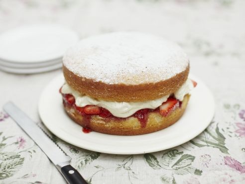 Classic Victoria sponge with all the trimmings