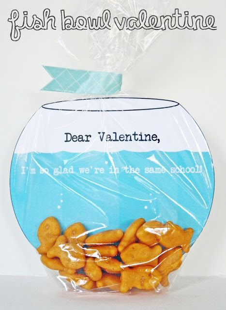 [Make] Fish Bowl Valentine's Card:  this would be a last minute project since we always have goldfish on hand.