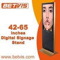 "slim 55"" floor stand lcd digital signage display ad kiosk"