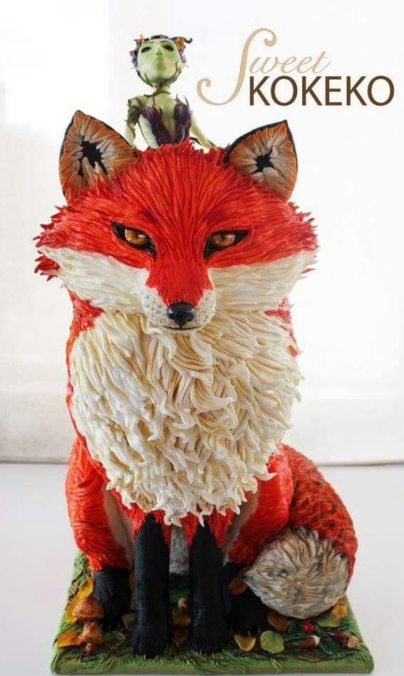 Fox & Fairy Cake Art