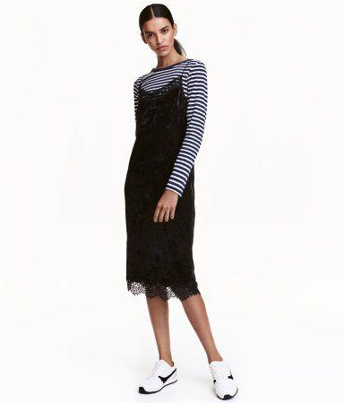 Slip-in kjole | Sort | Dame | H&M NO