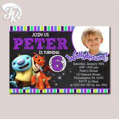 Wallykazam Chalkboard Invitation Birthday Party Card Digital Invitation $9.19 USD