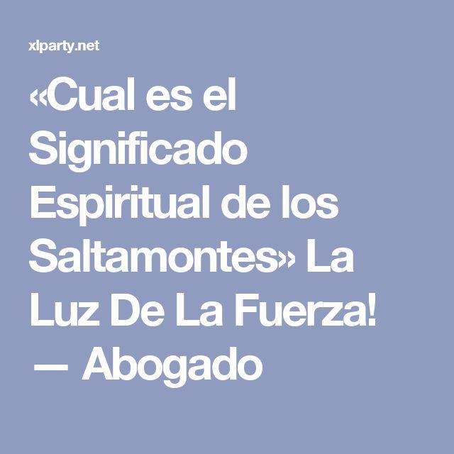 «Cual es el Significado Espiritual de los Saltamontes» La Luz De La Fuerza! — Abogado