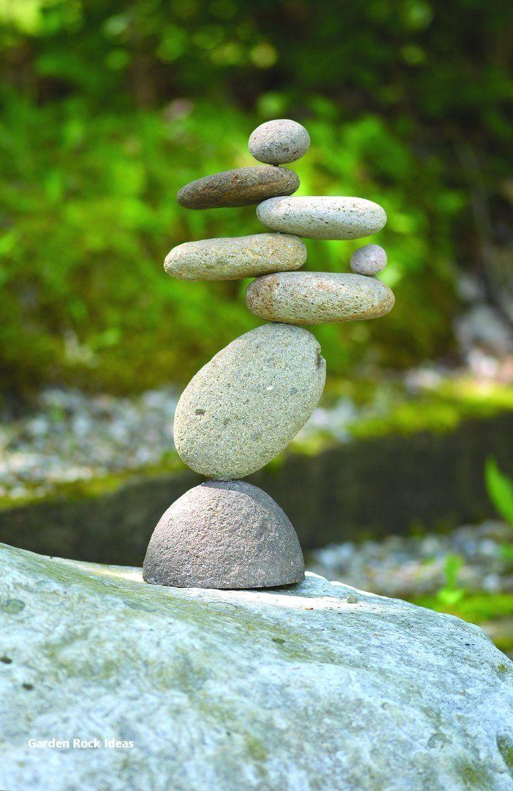 Garden Diy Ideas Using Rocks 1 Garden Statues Stone Balancing