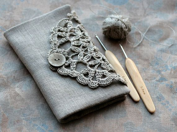 $38 on Etsy. Not so much that I must knit it, but that I need it FOR my knitting. Very, very pretty needle/hook case.