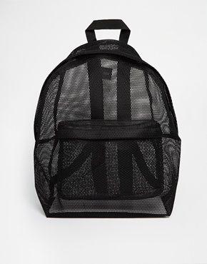 ASOS Mesh Backpack Sac à dos en tulle transparent