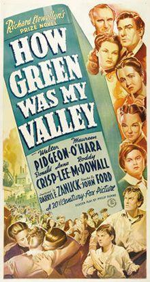 1941: 75 ANOS. QUE VERDE ERA O MEU VAL (John Ford). Cine.