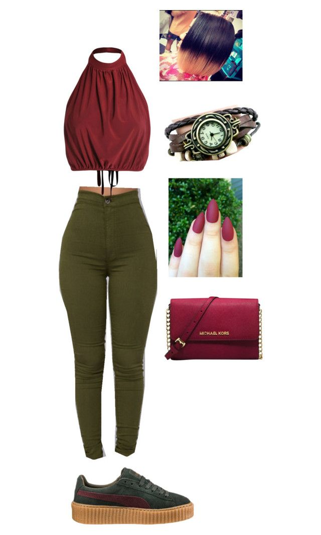 """""""Ma made this ❤️"""" by cloutqueex on Polyvore featuring Puma and Michael Kors"""