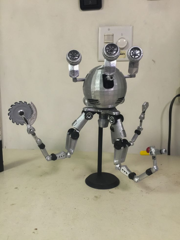 Hey Reddit Over the past 3 weeks I've been 3D printing Codsworth from Fallout 4. he's finally painted & done. hope you like it.