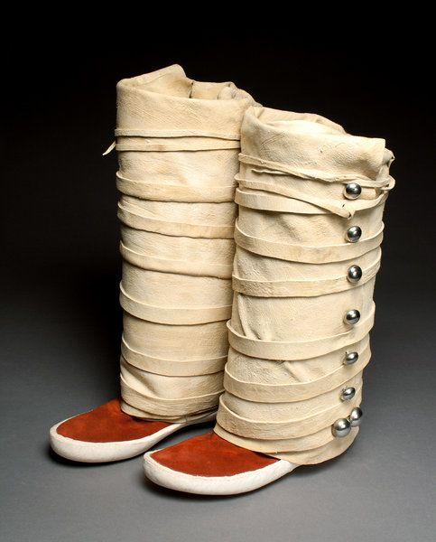 Navajo reds with leggings......Moccasins made by Will Tsosie