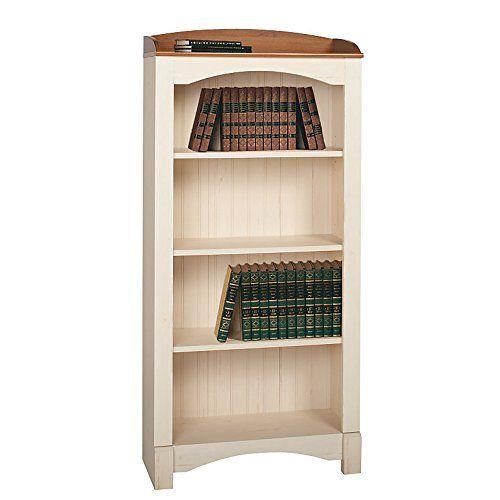 Realspace Shore Mini Solutions 4-Shelf Bookcase, Antique White