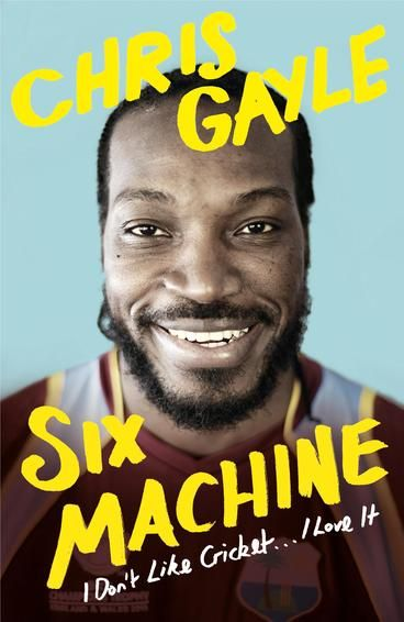 Six Machine by Chris Gayle.  Chris Gayle is the only man to have ever hit a six off the first ball of a Test Match. In fact the West Indies cricket legend has broken every batting record in the book: most runs and sixes in a career, most hundreds, most man-of-the-match awards . . . He is untouchable. Off the pitch he's no less notorious - known for his excessive partying, he will regularly pull an all-nighter, eat his trademark pancake breakfast, and then play another record innings.