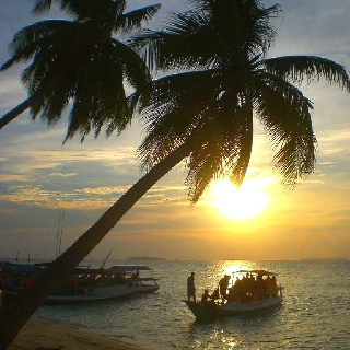 Sunset at Karimunjawa, Central Java