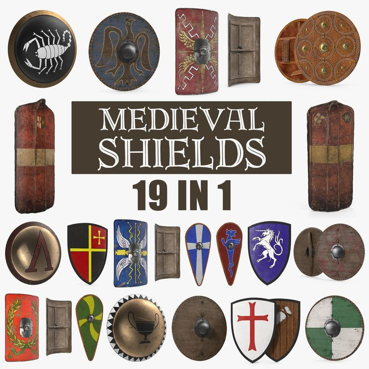3D Medieval Shields Collection