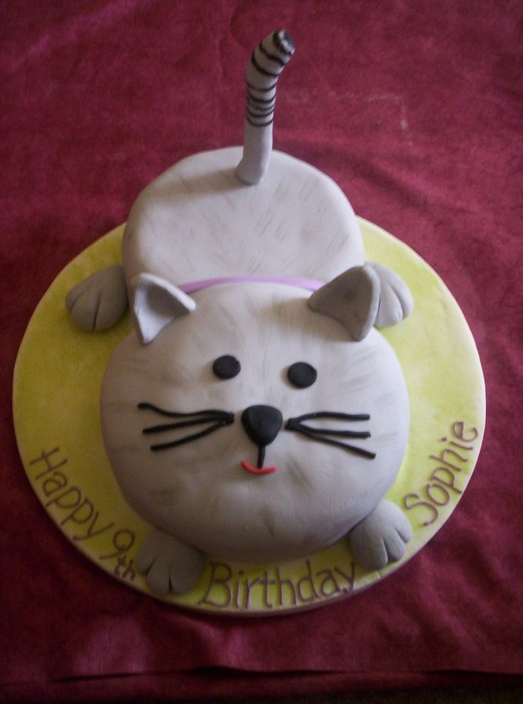 My Daughter wants a cake like this for her B-day, but I think a Kitty Litter cake would be fun. . . . Maybe we'll put this cute kitty on top of a Kitty Litter cake :)