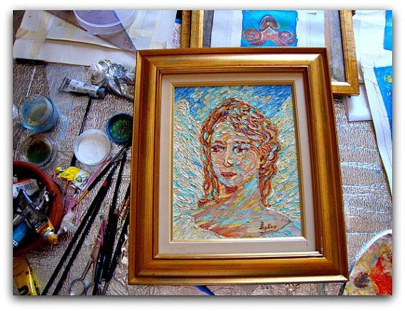Angel 30x20cmoriginal. impressionistic by ORIGINALsPAINTINGS, €369.00