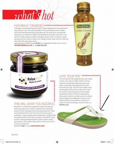 #Yoga #Magazine Recommends Kenkoh #sandles after #yoga #workout    for shopping your kenkoh shoes/sandles visit http://www.kenkoh.co.uk/store/